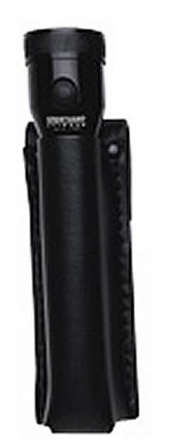 Boston Leather Open Top Stinger Flashlight Holder - Basketweave