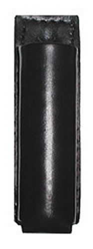 Open Top Basket Weave Leather Strion Flashlight Holder