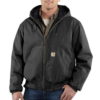 Carhartt Ripstop Black Quilt Lined Active Jacket