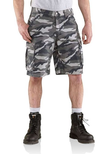 Carhartt Rugged Gray Camo Cargo Shorts