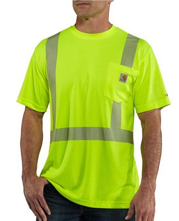 Carhartt Force High Visibility Class 2 Short Sleeve T-Shirt