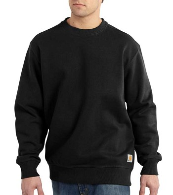 Carhartt Paxton Rain Defender Heavyweight Black Crewneck Sweatshirt