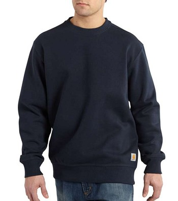 Carhartt Paxton Rain Defender Heavyweight Navy Crewneck Sweatshirt