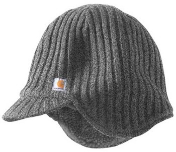 Carhartt Colton Charcoal Grey Sherpa Lined Winter Hat