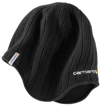 Carhartt Firesteel Black Earflap Winter Hat
