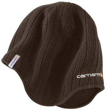 Carhartt Firesteel Dark Brown Earflap Winter Hat