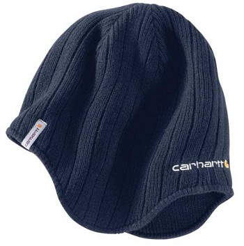 Carhartt Firesteel Navy Blue Earflap Winter Hat