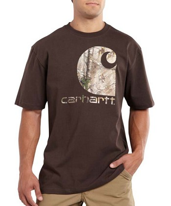 Carhartt Workwear Graphic Camo Logo Dark Brown T-Shirt - Dark Brown
