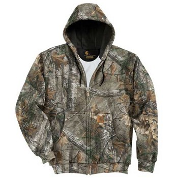 Carhartt Mid Weight Realtree Camo Zip Front Hoodie