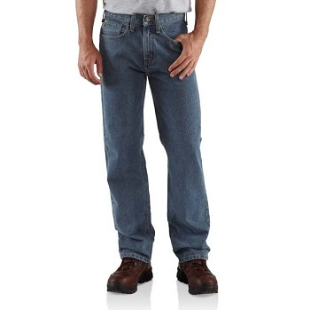 Carhartt Men's Relaxed Fit Straight Leg Jeans - B460