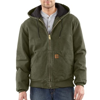 Carhartt Men's Sandstone Active Jac -  Quilted Flannel Lined