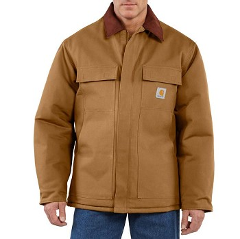 Carhartt Men's Duck Traditional Coat Arctic Quilt-Lined
