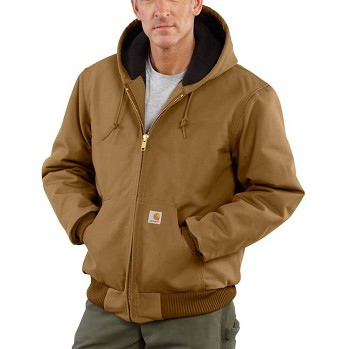Carhartt Men's Duck Active Jac - Quilted-Flannel Lined