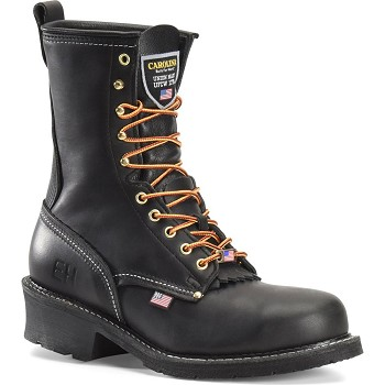 Carolina 1922: Black 9-inch Steel Toe Logger Boot - Made in the USA