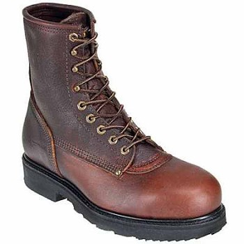 Carolina 8510: Mens 8-inch Briar Leather Steel Toe Work Boot - Briar