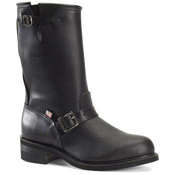 Carolina 902: Black 12-inch Engineer Boot - Made in USA