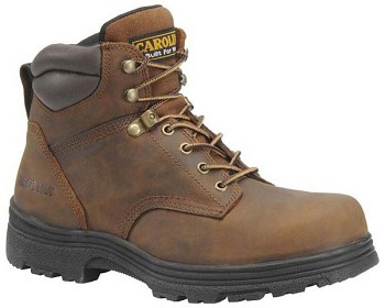 Carolina CA3520 Brown 6-inch Steel Toe Work Boot