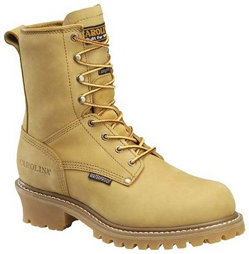 Carolina CA4826: 8-inch Waterproof Insulated Logger Boot - Wheat