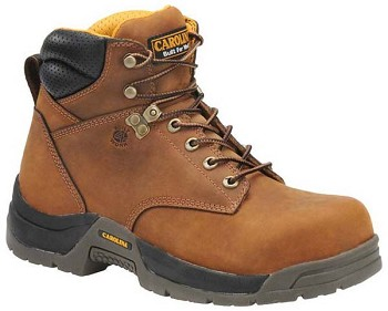 Carolina CA5020: 6-inch Waterproof Broad Toe Work Boot - Copper