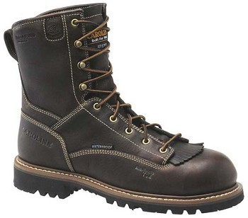 Carolina CA7013: Men's 8-inch Insulated Waterproof Work Boot - Worn Saddle Black Coffee