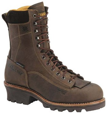 Carolina CA7022: 8-inch Waterproof Logger Boot - Gaucho Crazy Horse