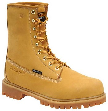 Carolina CA7545: 8-inch Waterproof Steel Toe Work Boot - Wheat