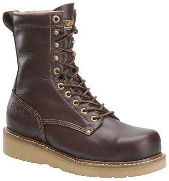 Carolina CA8049: 8-inch Broad Toe Wedge Work Boot - Dark Oak