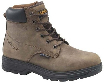 Carolina CA8506: 6-inch Waterproof Steel Toe Work Boot - Brown