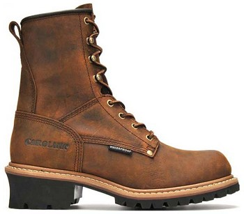 Carolina CA8821: 8-inch Waterproof Logger Boot - Copper Crazy Horse