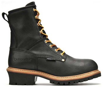 Carolina CA8823: 8-inch Waterproof Logger Boot - Black