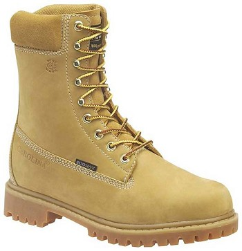 Carolina CA9026: 8-inch Insulated Waterproof Work Boot - Wheat Nubuck