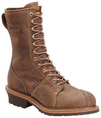 Carolina CA904: 10-inch Waterproof Linesman Boot - Cork Harness