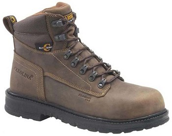 Carolina CA9559: 6-inch Aluminum Toe Work Boot - Dark Brown