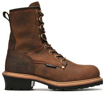 Carolina CA9821: 8-inch Steel Toe Waterproof Logger Boot - Copper