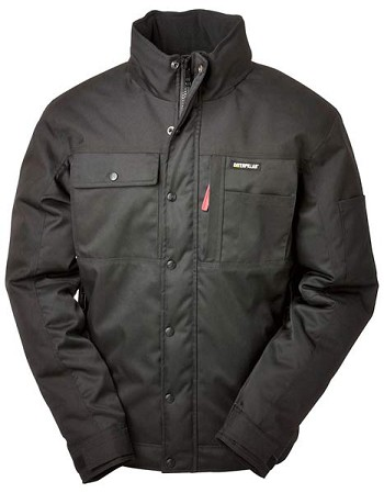Caterpillar Insulated Black Twill Work Jacket