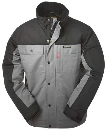 Caterpillar Insulated Grey Twill Work Jacket