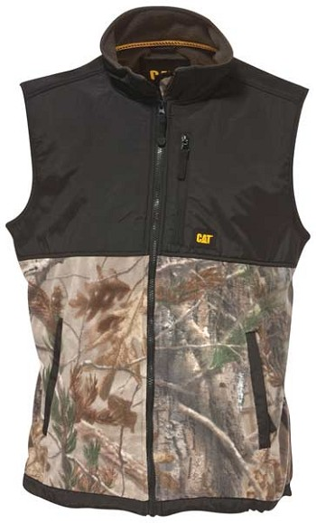 Caterpillar Real Tree Camo Fleece Overlay Vest