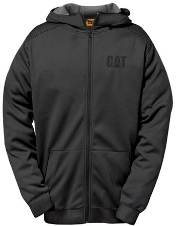 Caterpillar Shield Fleece Black Full Zip Hoodie