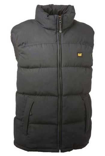 Caterpillar Quilted Insulated Black Vest