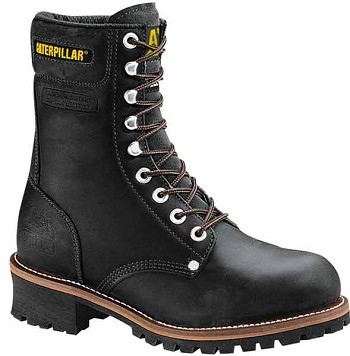Caterpillar Logger Black Steel Toe Boot - P88033