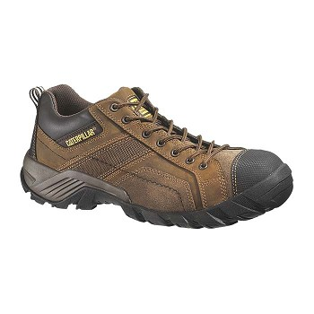 Caterpillar Argon Brown Composite Toe Oxford Work Shoes