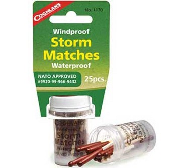 Coghlans Storm Matches: Windproof and Waterproof Matches - NATO approved