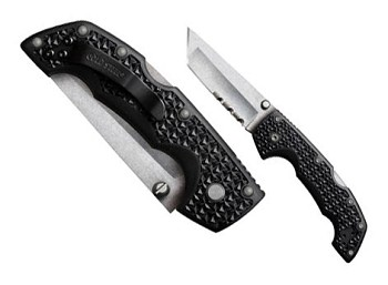 Cold Steel Voyager Medium Tanto Tip Combo Edge Folding Knife - 29TMTH