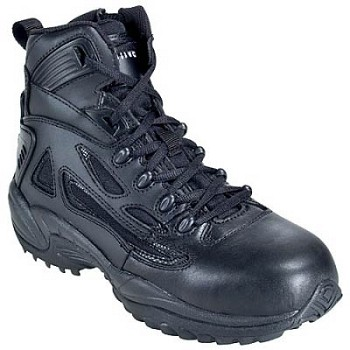Converse Mens Rapid Response 6 inch Black Side Zip Tactical Boots- C8678
