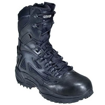Converse Womens Rapid Response 8 inch Waterproof Black Side Zip Tactical Boots- C877