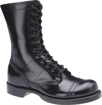 Corcoran 1515 Womens 10 Inch Black Leather Military Combat Boots
