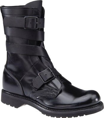 10-inch Black Leather Tanker Boots - 5407
