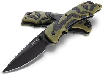 CRKT 1101 Moxie Olive Drab Assisted Open Folding Knife