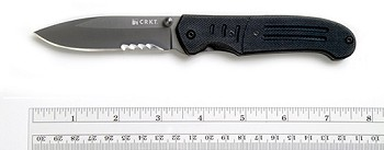 Assisted Open CRKT Ignitor Black Combo Edge Folding Knife - 6865