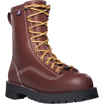 Danner Super Rain Forest Brown 8-inch Waterproof Safety Toe Work Boots - 11565